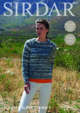 33521e7d8b67 Sweater in Sirdar Tundra Super Chunky - 8077 - Downloadable PDF