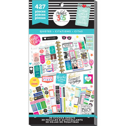 Me & My Big Ideas Happy Planner Sticker Value Pack - Quotes - Classic, 427/Pkg