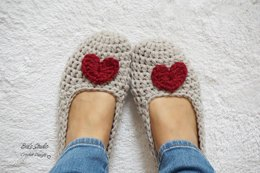 Extra Thick Heart Slippers