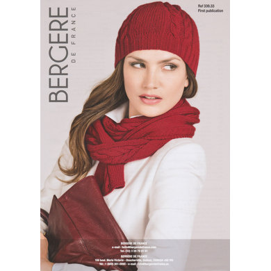 Hat and Scarf in Bergere de France Cachemire - 33933