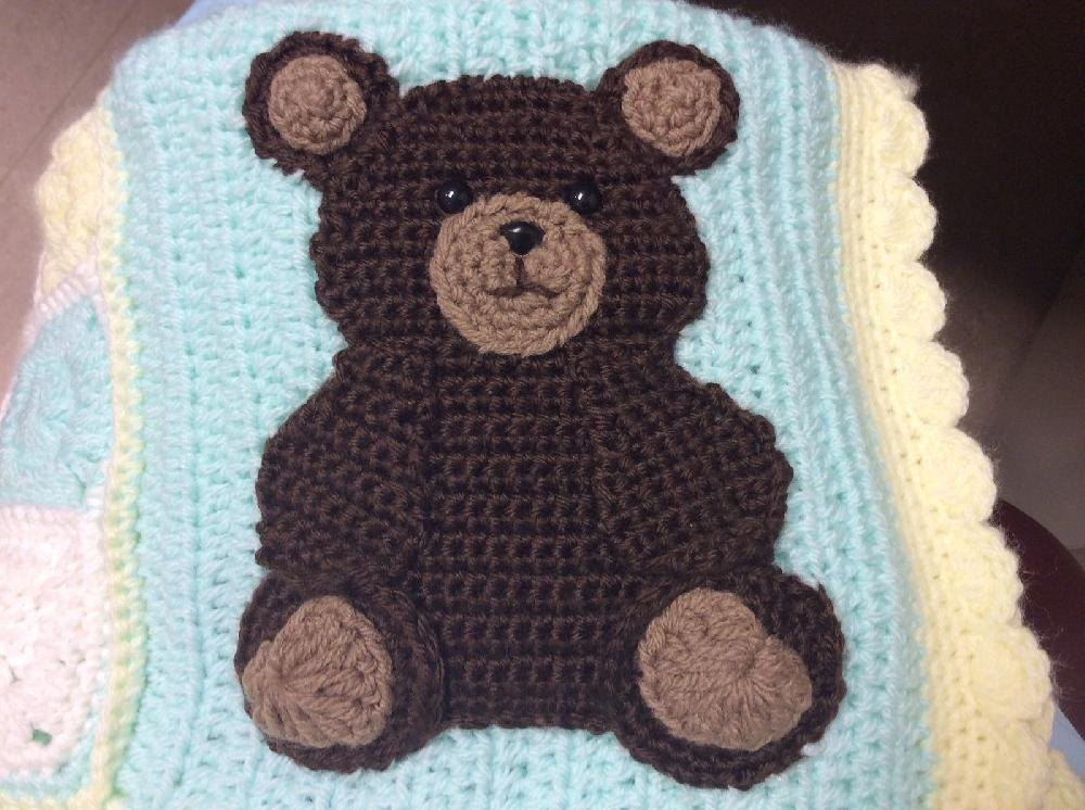 Bear And Paw Print Appliques Crochet Pattern By Lisa