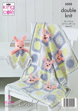 Baby Blankets & Comforter Toys in King Cole Cherished & Cherish Dash DK - 5503 - Downloadable PDF