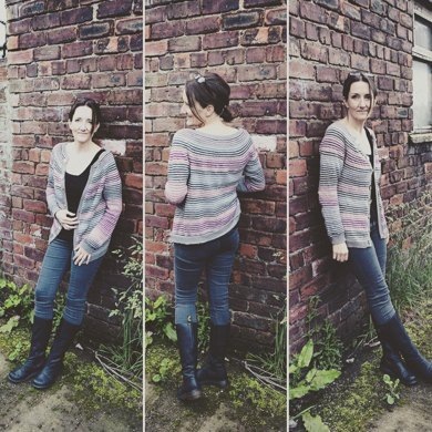 Silken Stripes Cardigan
