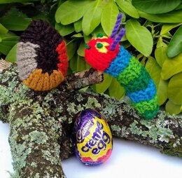 Caterpillar Toy with Chocolate Egg Cocoon