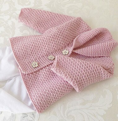 60f4d7d443b4 Versatile baby Cardigan or Vest with shawl collar P081 Knitting ...