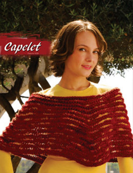 Capelet in Misti Alpaca Chunky and Hand Paint Lace - 1028