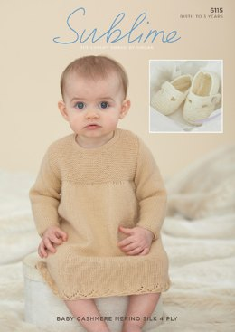 Dress and Shoes in Sublime Baby Cashmere Merino Silk 4 Ply - 6115- Downloadable PDF