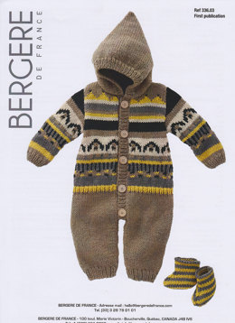 Sleepsuit & Bootees in Bergere de France Magic+ -33603