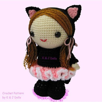 Bella in Ballerina Cat Suit - PDF Amigurumi crochet pattern