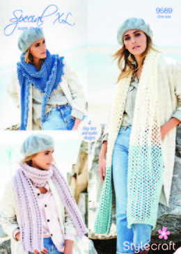 Scarves & Shawls in Stylecraft Special Super Chunky - 9589 - Downloadable PDF