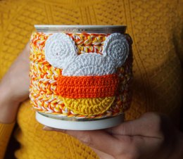 Candy Corn Cup Cozy
