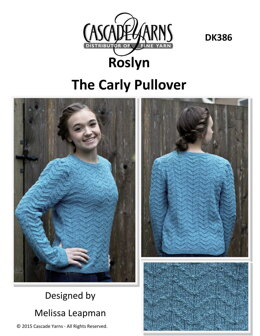 The Carly Pullover  in Cascade Yarns Roslyn - DK386 - Downloadable PDF