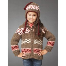 Hot Cocoa Jacket and Hat in Bernat Roving