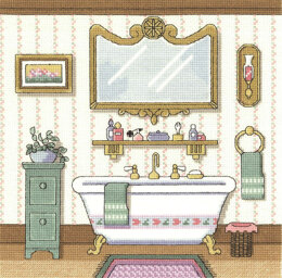 Janlynn Corporation Victorian Bath Cross Stitch Kit - 25.5cm x 25.5cm