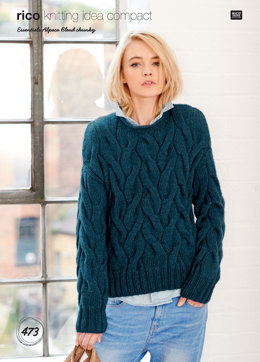 Sweater and Cardigan in Rico Essentials Alpaca Blend Chunky - 473 - Downloadable PDF