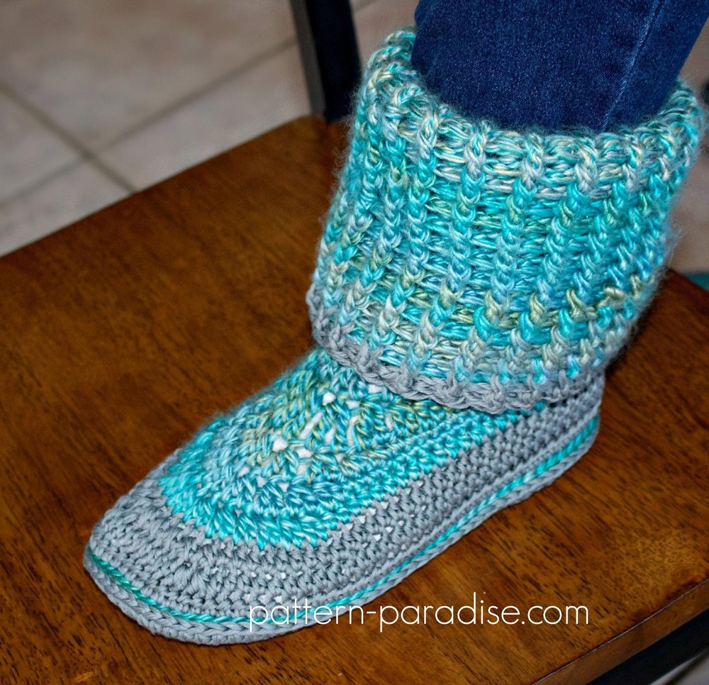 Cozy Feet Slippers PDF12-092 Crochet pattern by Pattern Paradise ...
