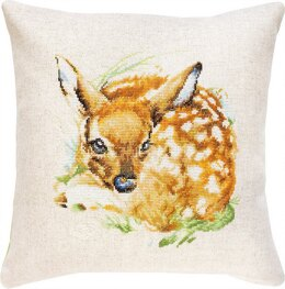 Luca-S Fawn Cushion Cross Stitch Kit - 40cm x 40cm