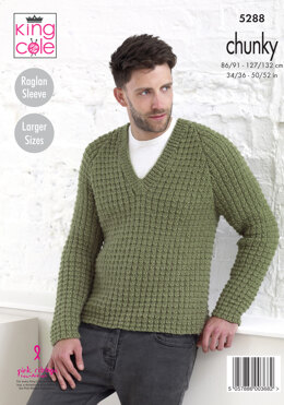 fb8e624074cb5 Sweaters Larger Sizes in King Cole Magnum Chunky - 5288 - Leaflet