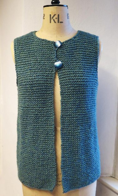 Gilet Knitting Pattern Free : Easy Peasy Adult Gilet Knitting pattern by Ruth Maddock