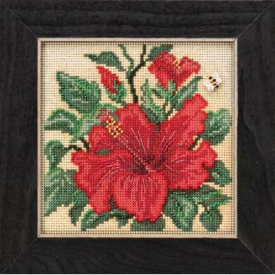 Mill Hill Spring Series 2019 - Hibiscus - 5.25in x 5.25in