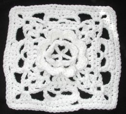 Ring Around the Rosie Creepy Granny Afghan Square