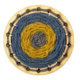 Hawthorn Handmade Go Weave Brooch Kit (Mustard, Denim & Grey)