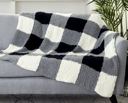 Checked Blanket in Bernat Bernat Alize Blanket-EZ - Downloadable PDF