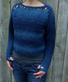 Blues Cropped Sweater