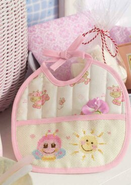 Friends Are Forever  - Cute Pink Bee Bib in Anchor - Downloadable PDF