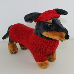 Small Dog 4 Ply Coat,Visor & Pixie Hat