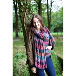 Autumn Mix Scarf in West Yorkshire Spinners Aire Valley Aran Fusions