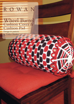 Wheel Barrel Cushion Cover & Cushion Pad in Rowan Pure Wool Worsted