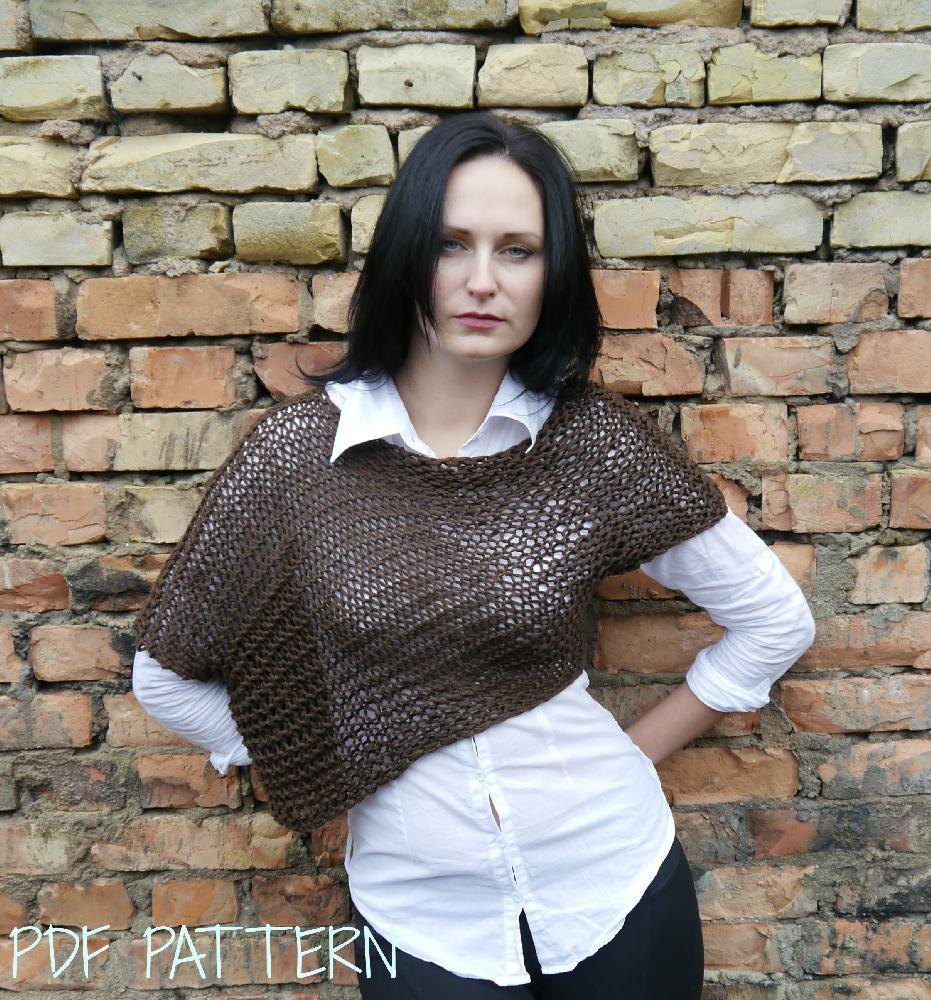 424a4a945 Asymmetrical Knitted Sweater Knitting pattern by TheMailoDesign ...