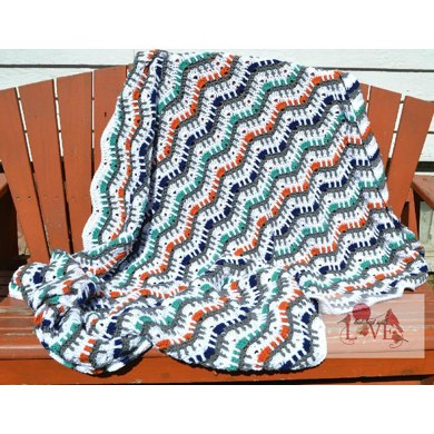 Picket Fence Ripple Afghan Crochet Pattern By Hatch Ed With Love
