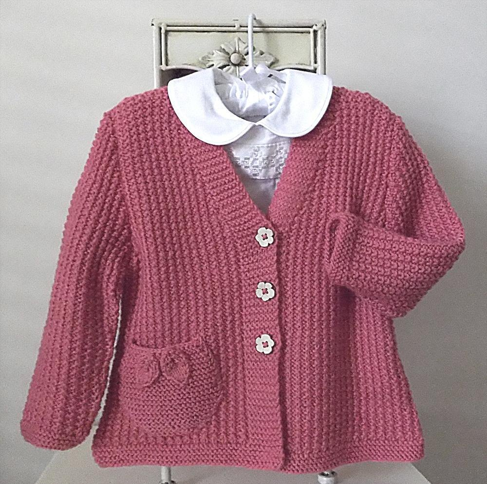 be584e5ff Textured Jacket   Cardigan with Pocket - P050 Knitting pattern by OGE ...