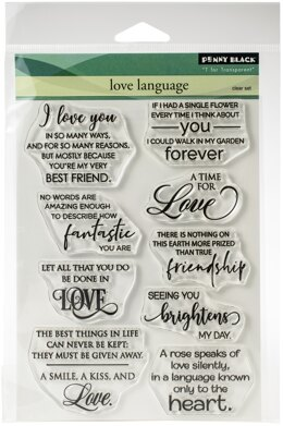 "Penny Black Clear Stamps - Love Language 5""X6.5"""