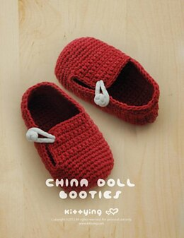 China Doll Baby Booties