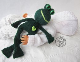 Toy for sleep. Frogling