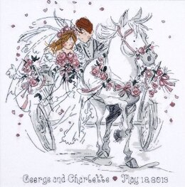 Design Works Wedding Carriage Marriage Sampler Cross Stitch Kit