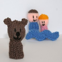9 Finger Friends knitting patterns - We're Going on a Bear Hunt