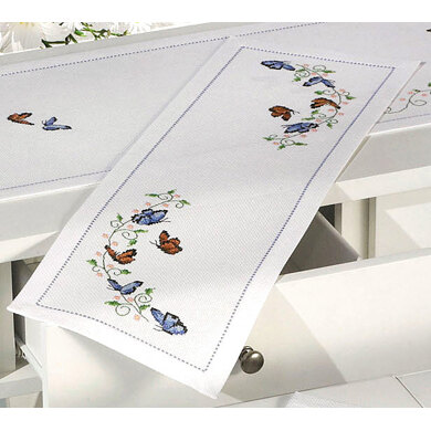 Permin Small Butterflies Table Runner Cross Stitch Kit