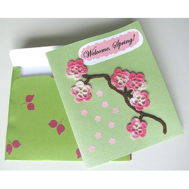 Cherry Blossom Card with Envelope