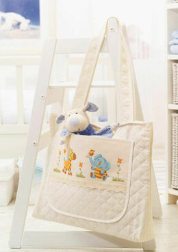 Made with Love - Baby Bag with Jungle Friends in Anchor - Downloadable PDF