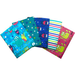 Visage Textiles Monsters Fat Quarter Bundle - Multi