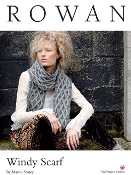Windy Scarf in Rowan Pure Wool Worsted - D160