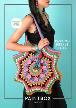 Passion Petal Tote - Free Bag Crochet Pattern For Women in Paintbox Yarns Cotton Aran