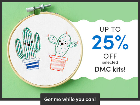 Up to 25 percent off selected DMC kits!