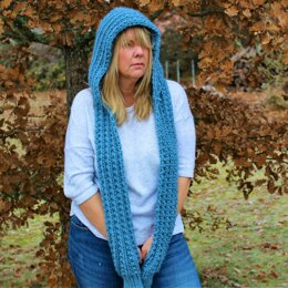 Winter Blues Hooded Scarf