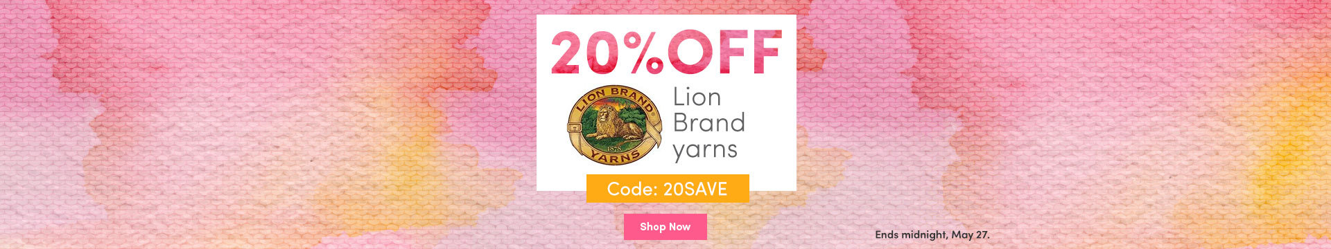 LC Marketing NA - 20% off Lion Brand