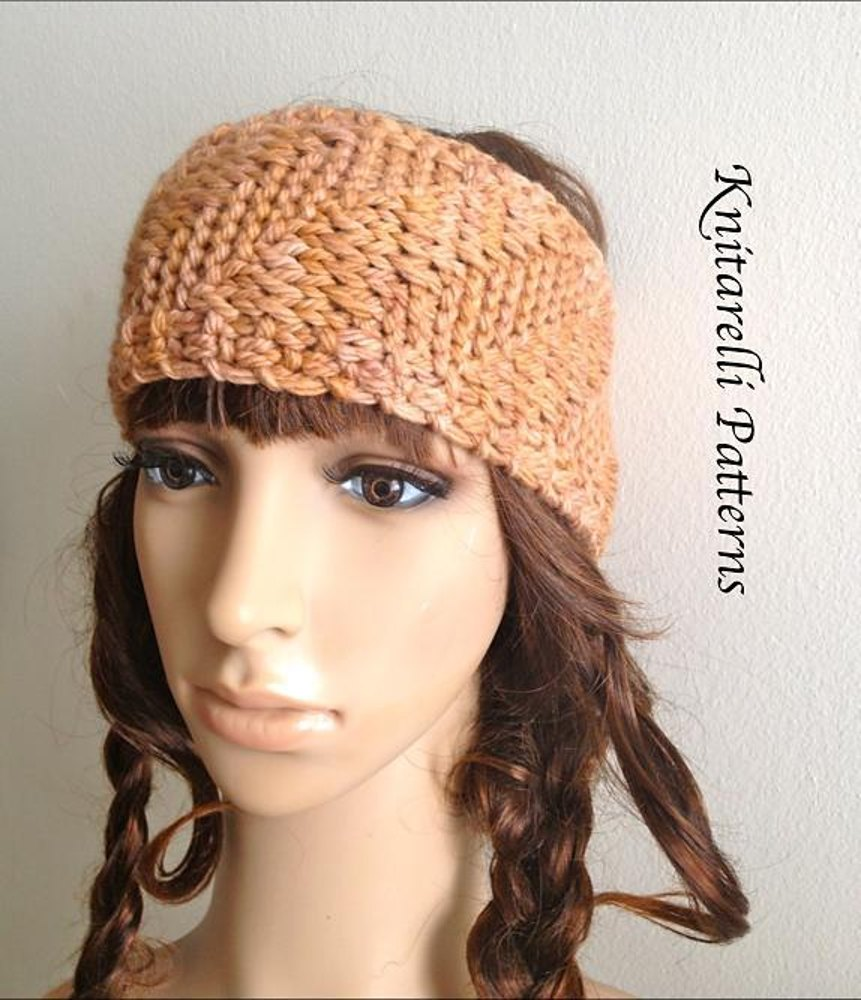 Hippie Headband Knitting Pattern : Boho Chic Reversible Headband Knitting pattern by ...